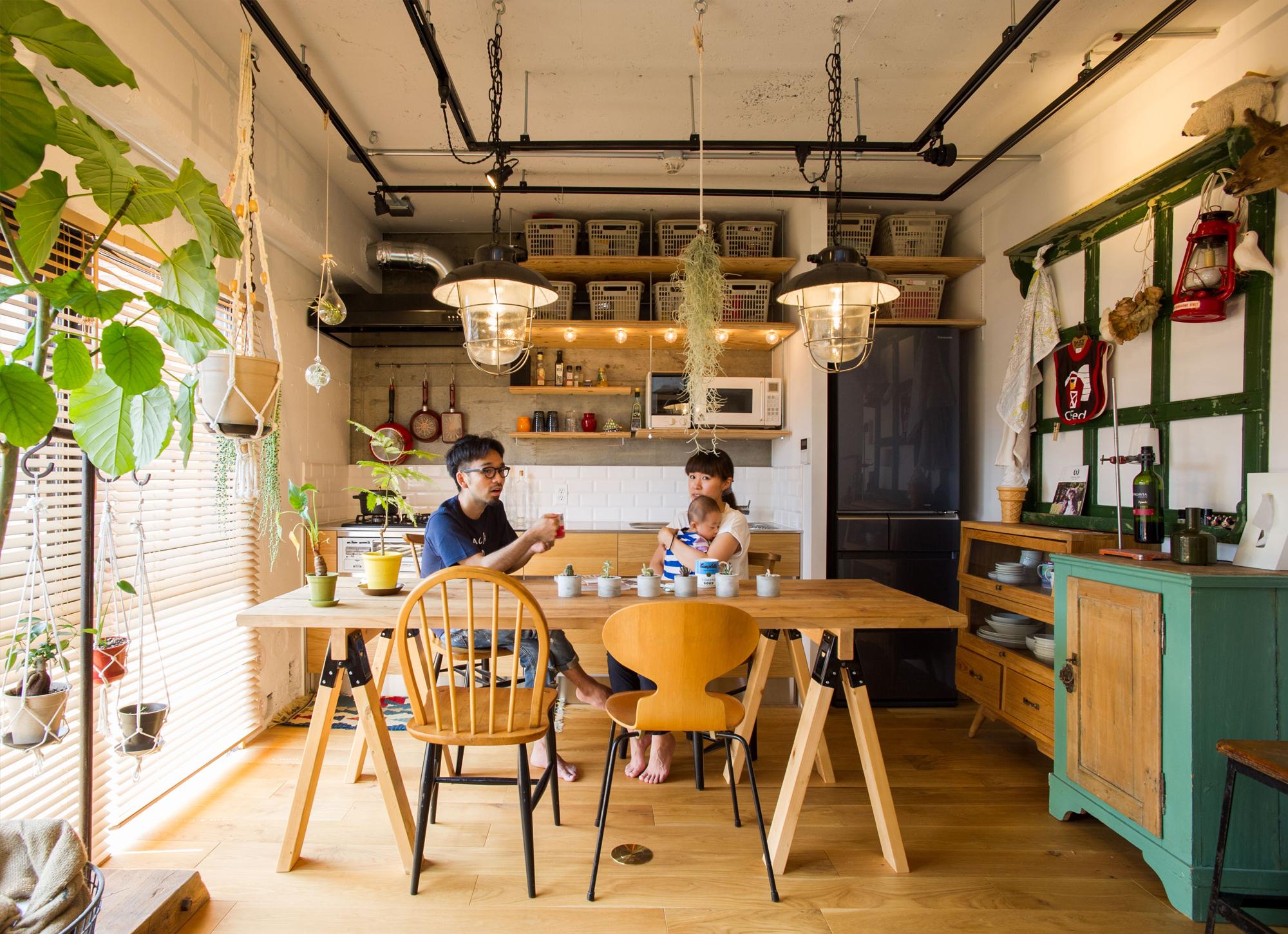 アンティークインテリアのキッチン
