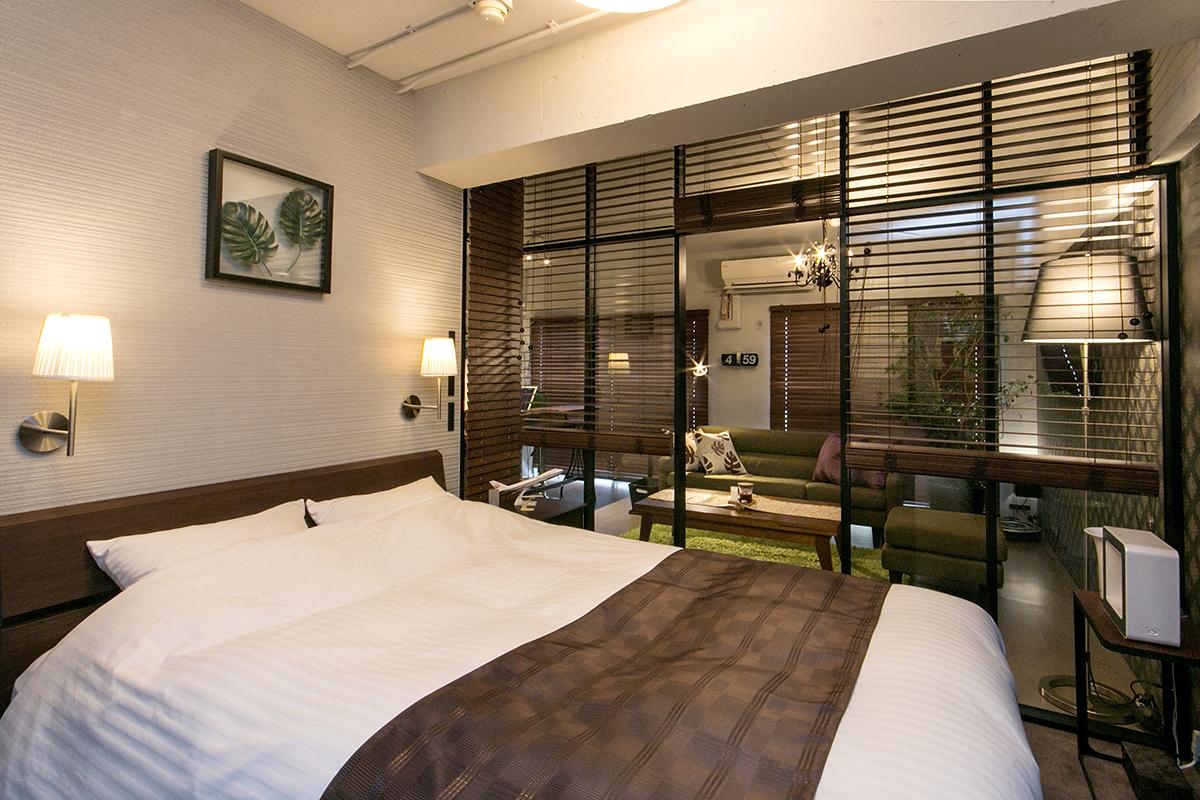 リノベーションした寝室